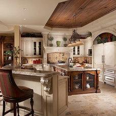 Mediterranean Kitchen by Ruffino Cabinetry