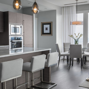 75 Beautiful Kitchen With Brown Cabinets And Blue Backsplash Pictures Ideas December 2020 Houzz
