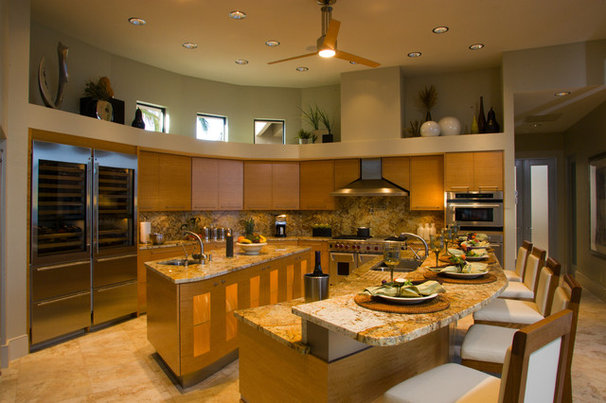 Contemporary Kitchen by LCDesigns, Inc.