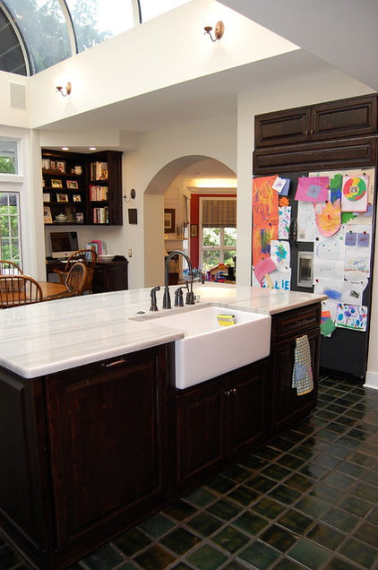 eclectic kitchen by Leslie Stephens Design