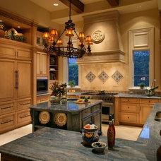 Mediterranean Kitchen by Harwick Homes