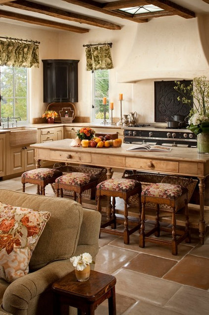 mediterranean kitchen by Andrea Bartholick Pace Interior Design