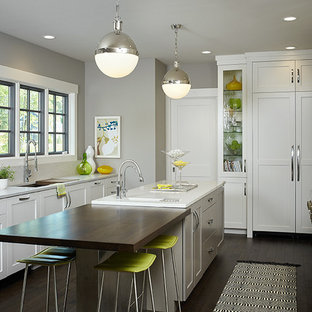 Contemporary kitchen remodeling - Example of a trendy kitchen design in Grand Rapids