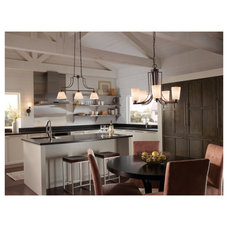 Transitional Kitchen by RE-Lighting