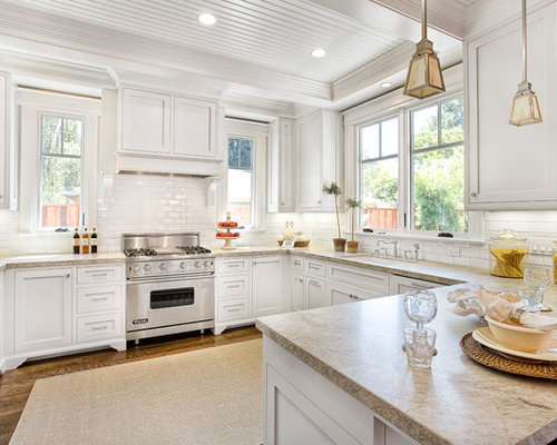 Stove Between Windows Home Design Ideas, Pictures, Remodel and Decor