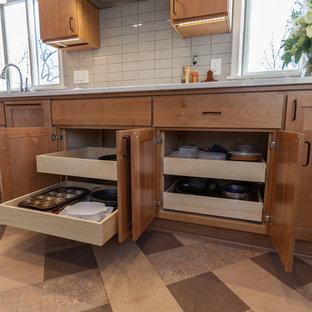 Project 3408-1 Scandinavian Kitchen Remodel w/ Custom Island on Wheels