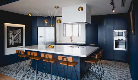 7 Sophisticated Blues for Your Kitchen Cabinets