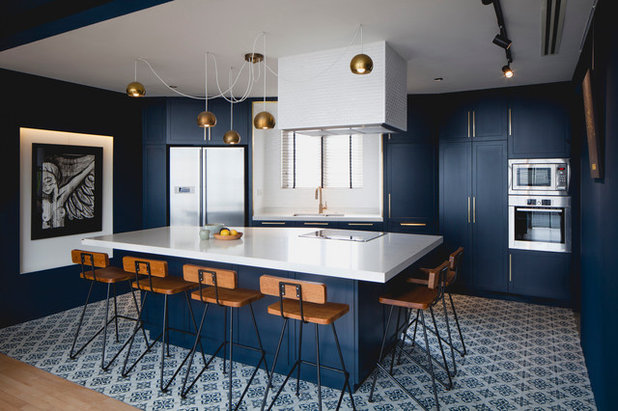 Transitional Kitchen by Studio Wills + Architects
