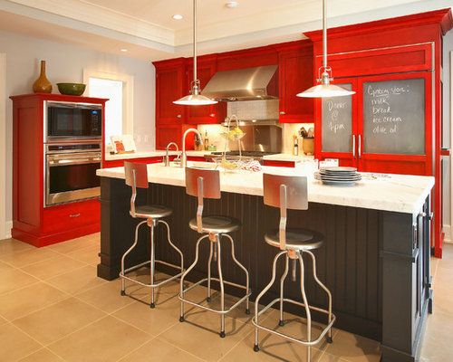 Example Of A Mid Sized Eclectic Kitchen Design In New York With Stainless  Steel Appliances Part 37