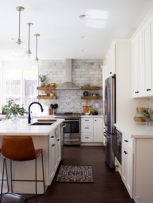25 best transitional l shaped kitchen ideas photos houzz for Transitional kitchen designs photo gallery