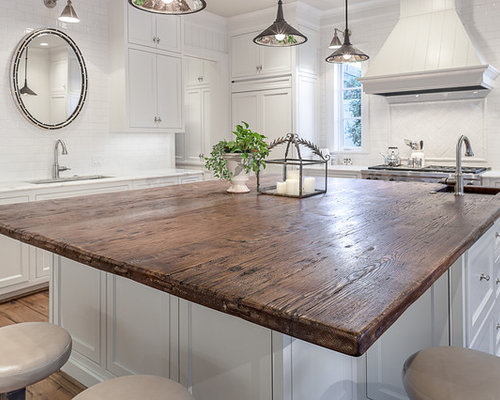 Island Wood Countertop Home Design Ideas Pictures