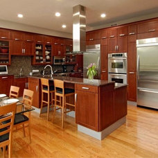 Transitional Kitchen by Cabin John Builders