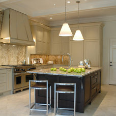 Transitional Kitchen by Brookside Custom Homes, LLC.