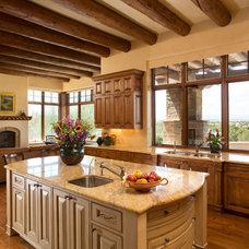 Mediterranean Kitchen by Woods Design Builders