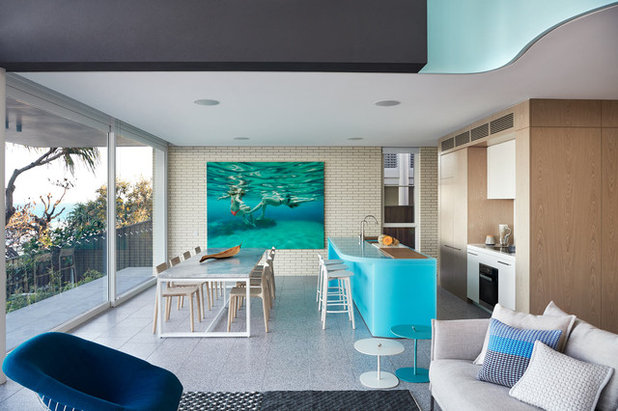 Beach Style Kitchen by Brickworks Building Products