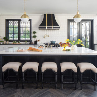 Transitional Eat In Kitchen Designs   Inspiration For A Transitional  U Shaped Dark Wood. EmailSave. Property Brothers ...