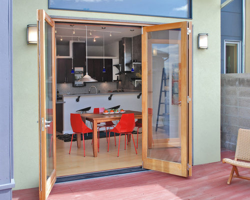 French doors bifold home design ideas pictures remodel for Kitchen designs with patio doors