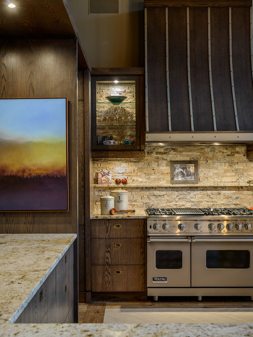 Stacked Stone Backsplash Home Design Ideas Pictures