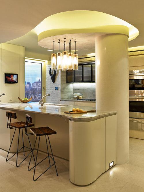 Ideas para cocinas | Fotos de cocinas amarillas con puertas de ...