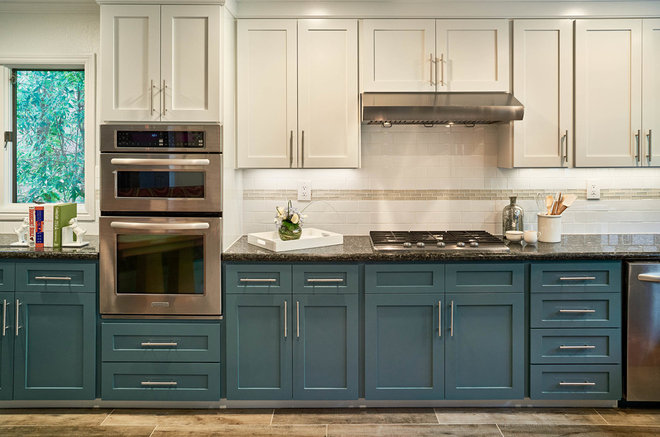 Transitional Kitchen by Sabrina Alfin Interiors, Inc.