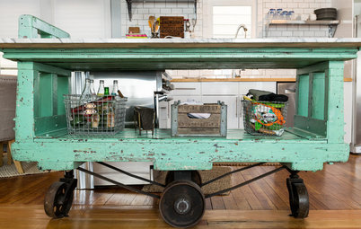 Kitchen Recipes: Factory Cart Inspires a Dream Cooking Space
