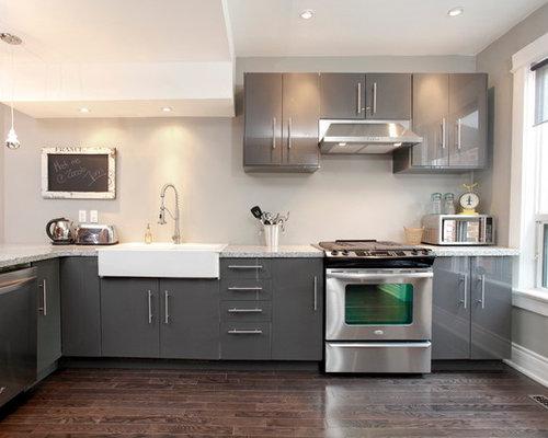 Gray Cabinets Dark Floors Houzz