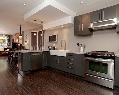 gray ikea cabinets houzz