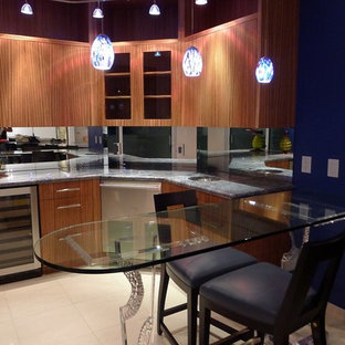 Contemporary kitchen designs - Inspiration for a contemporary kitchen remodel in Other