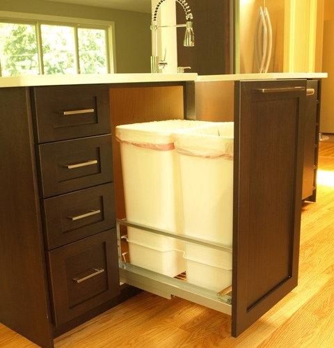 Ikea trash pullout houzz for Ikea trash cans