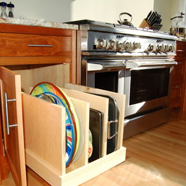 Custom pullouts can be made for any size configuration. This pullout ...