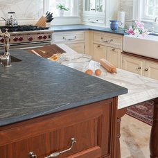 Traditional Kitchen by United Marble Fabricators