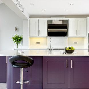 Purple island kitchen