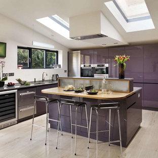 Purple kitchen, Cambridgeshire