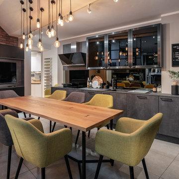 Putty Grey Concrete & Graphite Kitchen