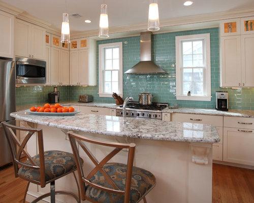 Aqua Tile Backsplash Home Design Ideas Pictures Remodel