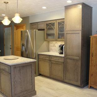 Quad Cities, IL Oak Kitchen In Heather Gray Stain.with Cambria Quartz