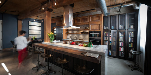 Sink Into 12 Kitchens That Are Serious About Their Books