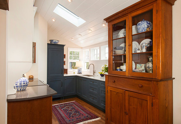 Transitional Kitchen by Savvy Cabinetry by Design