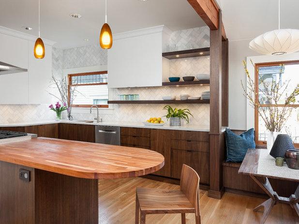 Stunning Midcentury Kitchen by Alinda Morris Interior Design LLC