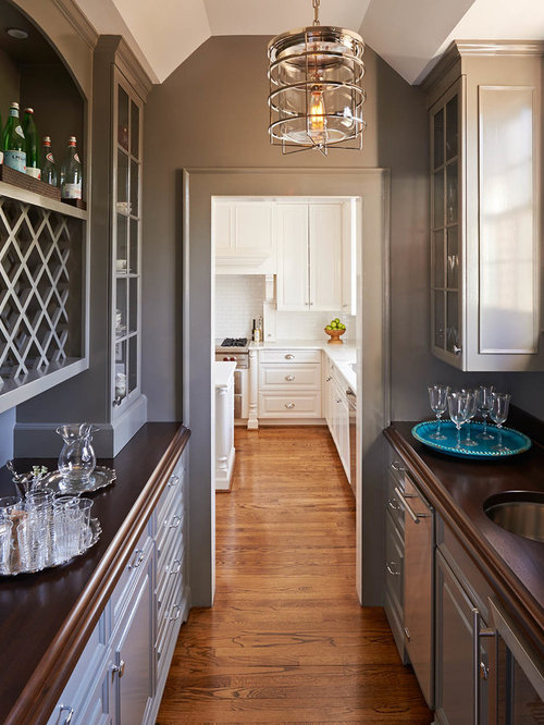 Butler Pantry Design Ideas rosemount kitchens timturner 5134 1 an example of a kitchen Inspiration For A Mid Sized Timeless Galley Kitchen Pantry Remodel In Charlotte With Raised