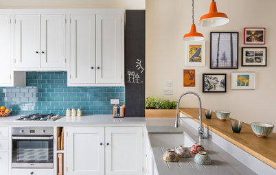 A 13-by-9-Foot London Kitchen Packs In the Storage