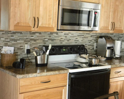 Portland maine kitchen design ideas renovations photos with matchstick tiled splashback - Kitchen design portland maine ...