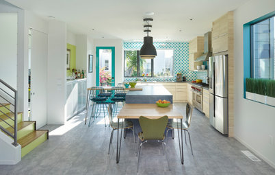Bold Color and Contemporary Barn House Charm
