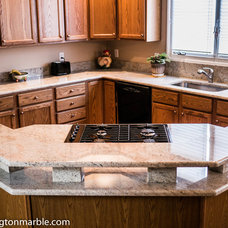 Traditional Kitchen by Washington Marble & Granite