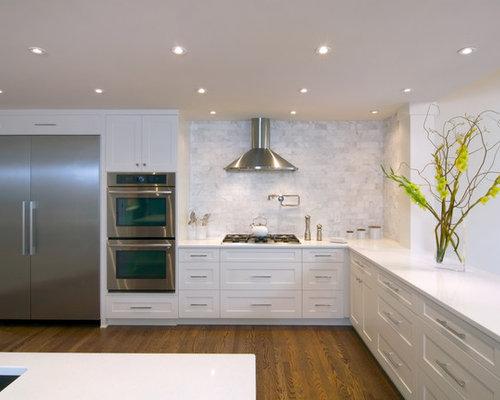 Marble Tile Backsplash Home Design Ideas Pictures