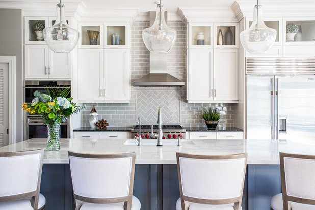 Transitional Kitchen by Peri Nicole Interiors