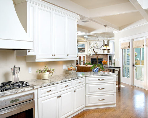 inspiration for a timeless kitchen remodel in tampa with white cabinets and granite countertops
