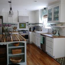 Farmhouse Kitchen Ranch Home Re-design Kitchen/Den Makeover