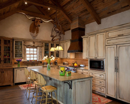 Western kitchen home design ideas pictures remodel and decor Western kitchen cabinets