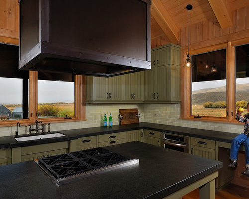 Example Of A Classic Kitchen Design In San Francisco With Subway Tile  Backsplash Part 69